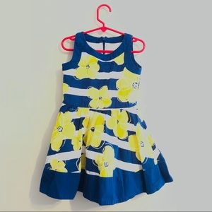 Gymboree Blue Yellow Flower Dress sz 6
